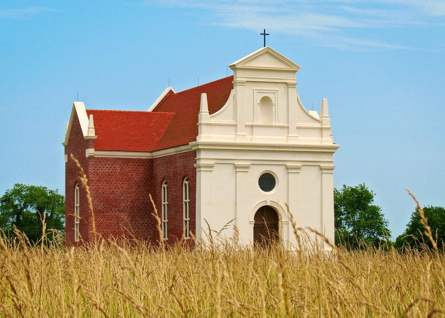 Brick Chapel (ca. 1667) stands as a symbol of religious tolerance in early Maryland.