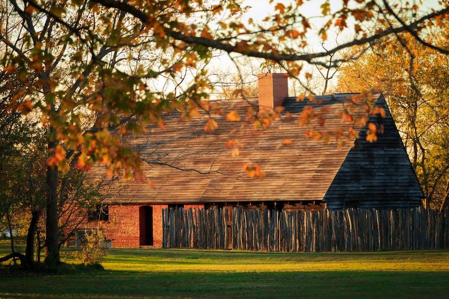 "Garrett Van Sweringen's sympathetically recreated ""private inn"" on its original foundation"