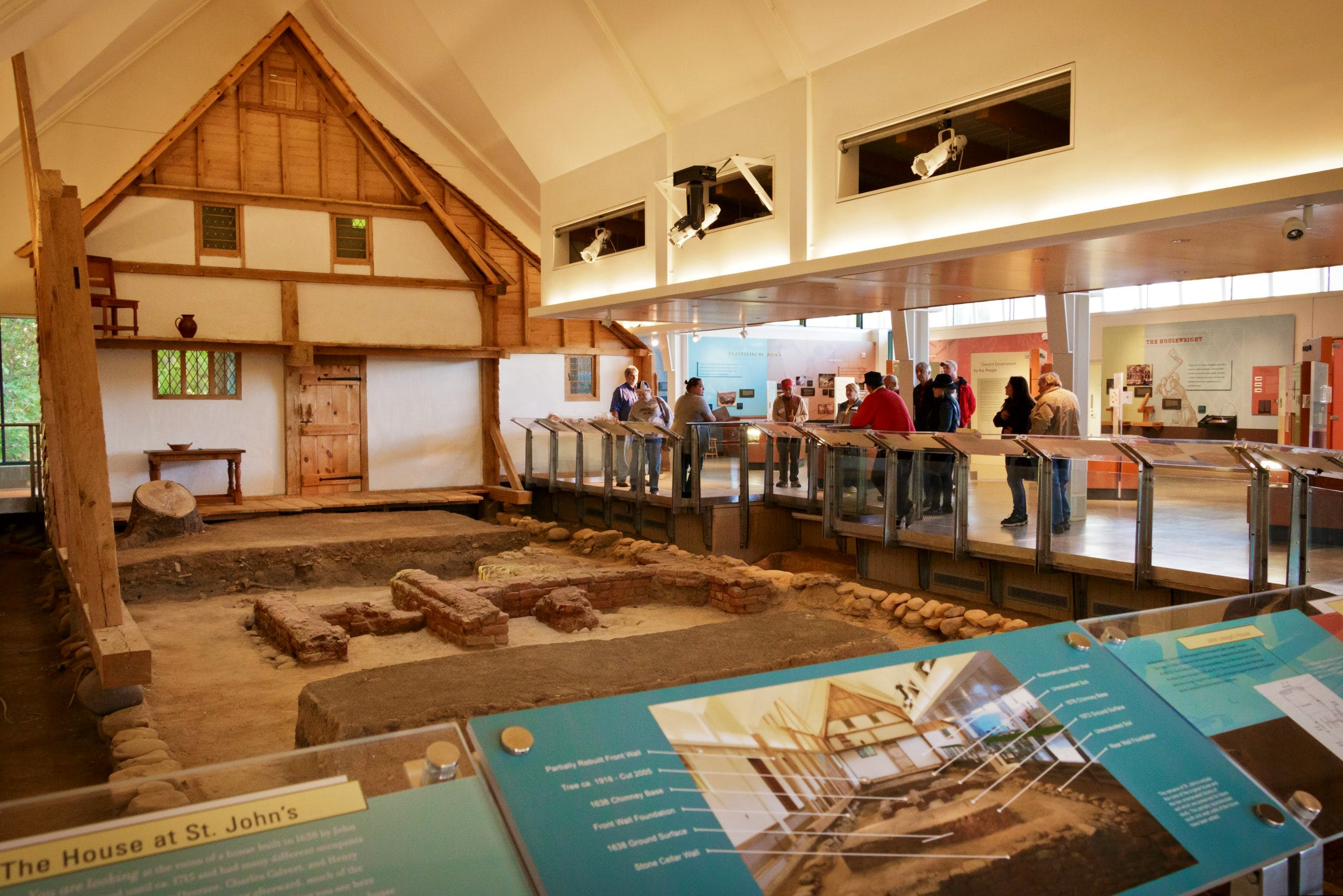 Interior view of the main exhibit at St. John's Site Museum