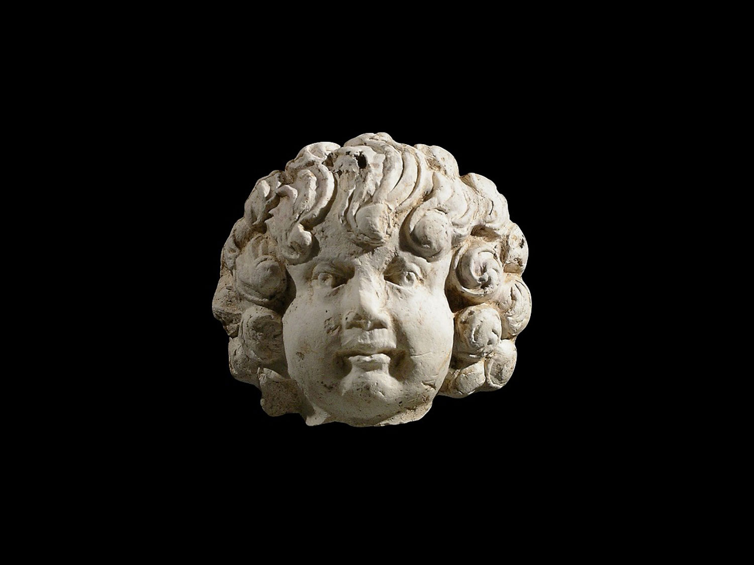 Head of an earthenware cherub figurine excavated at the St. John's site