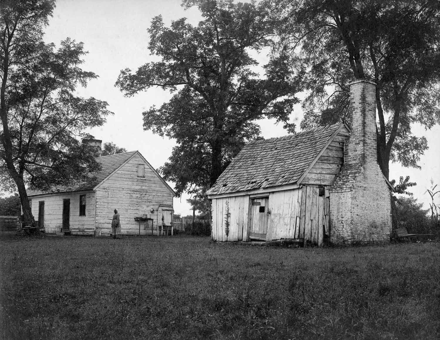 Ca. 1890s photograph of the single quarter and duplex quarter